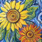 Sunflower Oil Painting Southwestsungallery