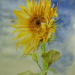 Sunflower Tribute Van Gogh Painting Lizzy