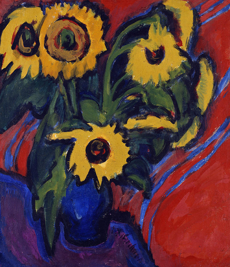 Sunflowers Painting Ernst Ludwig