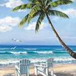 Sung Kim Hidden Beach Painting Framed Paintings