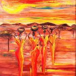 Sunny South Africa Painting Marietjie