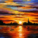Sunset Painting Art Leonid