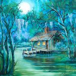Swamp Moon Painting Dianne