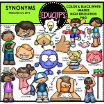 Synonyms Clip Art Bundle Color Welcome Educlips