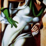 Tamara Lempicka Woman Green Glove Oil