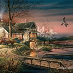Terry Redlin Hunter Haven Encore Print Duck Hunting Cabin