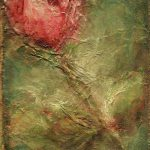 Textured Rose Art Painting Mary