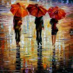 Three Red Umbrella Leonid