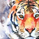 Tiger Art Print Original Watercolor