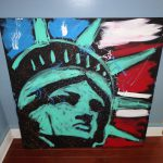 Tim Decker Lady Liberty Statue Patriotic Usa Large Painting