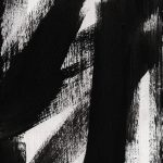 Timber Vertical Abstract Black White Painting Linda