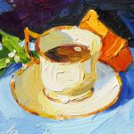 Tom Brown Fine Art One Dollar Auction Colorful Contemporary Still Life