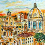 Travel Art Rome Artistic Representations Italy Capital