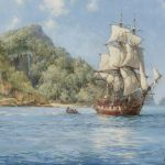 Treasure Island Cocos Artwork Montague Dawson Oil Painting Art Prints Canvas