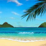 Tropical Beach Paintings Day Archive Thomas Deir Honolulu