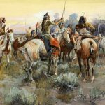 Truce Charles Marion Russell Oil Painting