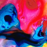 True Colors Vibrant Pink Blue Painting Art Sharon