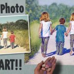 Turn Into Art Pastel Speed Painting Kids Walking Beach