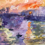 Turning Famous Painting Feat Claude Monet Into Watercolor
