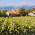 Tuscany Village Countryside Italy Italian Landscape Oil Painting Impressionist Style
