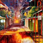 Twilight New Orleans Painting Diane