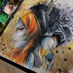 Twilight Princess Midna Watercolor Time Lapse Painting Legend Zelda
