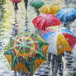 Umbrellas Painting Stanislav
