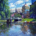 Unknown Artist Springtime Boston Public Garden Painting Best Paintings