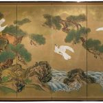 Unknown Panel Japanese Byobu Painting Sale