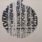 Untitled Abstract Text Painting Acrylic Canvas Zenon