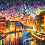 Venice Grand Canal Painting Leonid