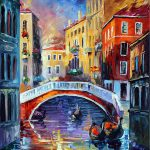 Venice Morning Palette Knife Oil Painting Canvas Leonid
