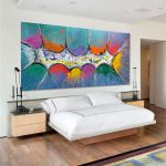 Very Big Abstract Canvas Painting Large Multi Coloured