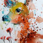 Vibrant Watercolor Animal Paintings Tilen