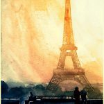 Vibrant Watercolor Paintings World Famous Landmarks Cities