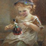 Victorian Paintings Doll Painter Emily Farmer Available Ruby