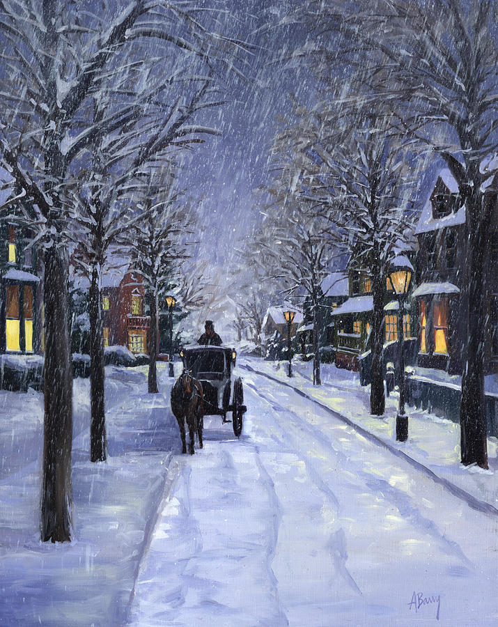 Victorian Snow Painting Alecia