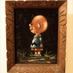Vintage Charlie Brown Black Velvet