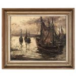 Vintage Framed Oil Painting Canvas Sale