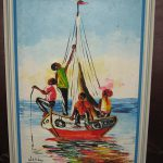 Vintage Haitian Oil Painting Canvas Signed