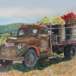 Vintage Harvest Painting Gail