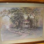 Vintage Home Interiors Joe Sambataro Framed Matted Gazebo Springtime