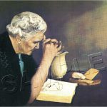 Vintage Old Woman Praying Reproduction Canvas Art Print Gratitude Religious