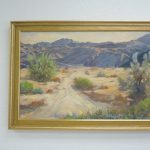 Vintage Palm Springs Desert Landscape Original Oil Painting Sale