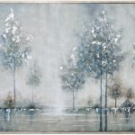 Walk Meadow Gray Landscape Wall Art