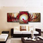 Wall Painting Abstract Phoenix Oil Canvas Modern Home Office Hotel Art