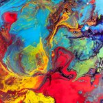 Wanderer Abstract Colorful Mixed Media Painting Modern Art