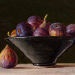 Wang Fine Art Figs Bowl Still Life Oil Painting Original Fruit Daily