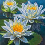 Water Lilies Fire Ice Painting Fiona