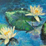 Water Lilies Painting Ana Maria